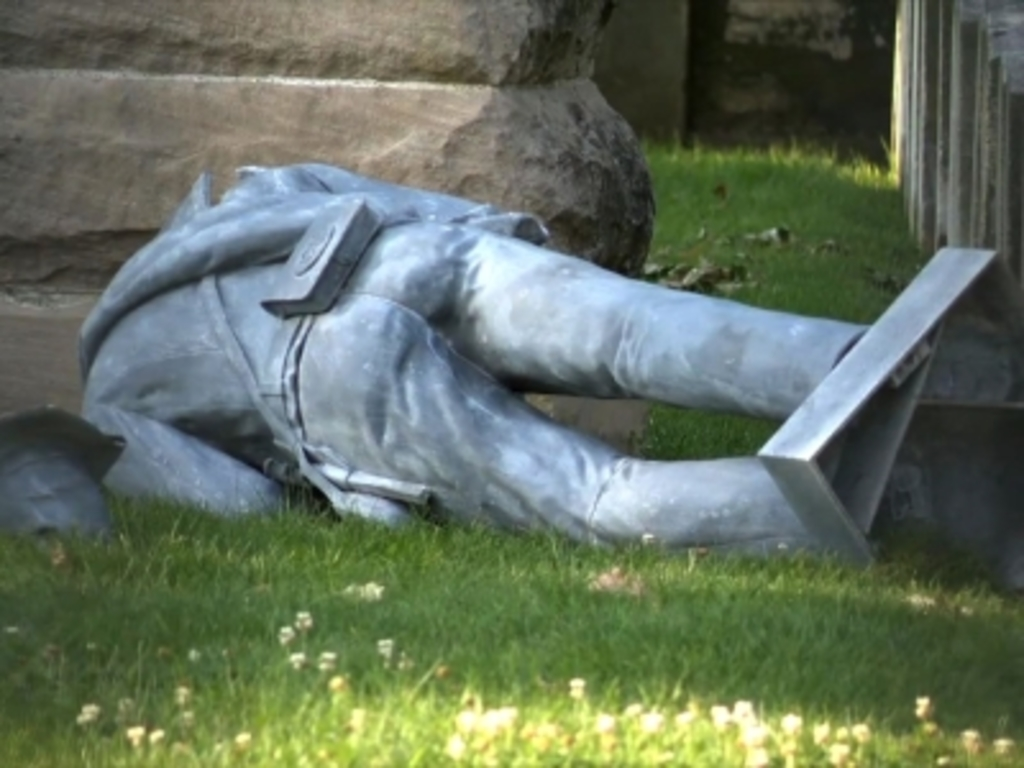 Confederate Soldier Statue Found Toppled and Headless in Columbus, Ohio