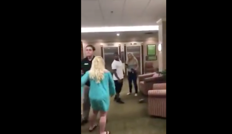Racist White Woman Gets Her A** Whooped!